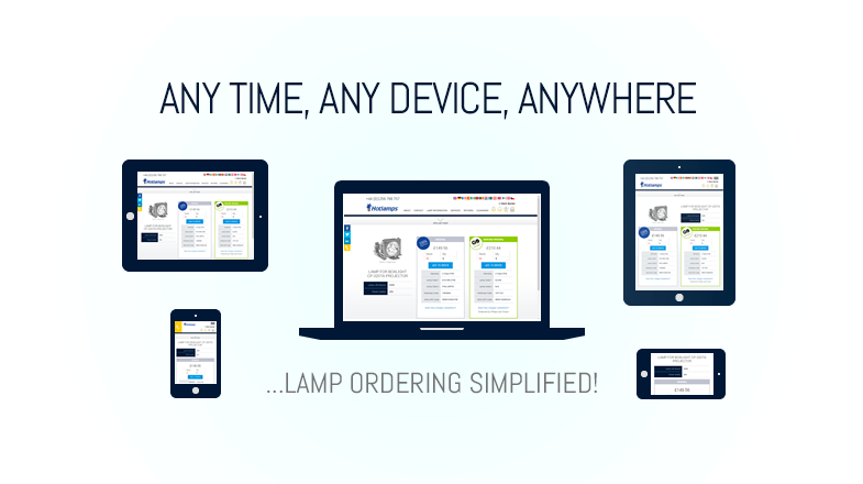 Lamp ordering simplified - Any time, any device, anywhere